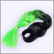 New Bee Hair.3Pcs/Lot Kanekalon Jumbo Braiding Hair 60cm 100g African Synthetic Green Braiding Hair Styles