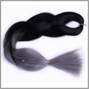 New Bee Hair.3Pcs/Lot Kanekalon Jumbo Braiding Hair 60cm Synthetic DarK Grey Colour High Temperature Fibre Jumbo Braid Hair/100G