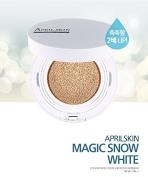 April Skin Magic Snow Cushion WHITE SPF50+ / PA+++ (15g) (#23 Natural Beige) 2016 New Version