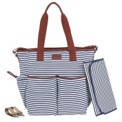 Nappy Bag by Hip Cub - Weekender Tote - Designer Canvas W/ Cute Baby Change Pad