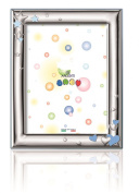 Silver Touch USA Sterling Silver Picture Frame, Hearts and Stars, Blue, 8.9cm X 13cm