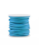 FreshHear 10m Leather Cord Colour Opal Blue Size 3x3mm