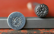 Supply Guy 7mm Sun Flower Metal Punch Design Stamp 375-65