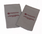 Pro Size Polishing Cloth Set of 2 Jewellery Cleaning Cloth Made in USA for Gold, Silver and platinum Jewellery, Coins, Watches, Silverware |Natural Cotton| Tarnish Remover Cloth| Keep Jewellery Shining!