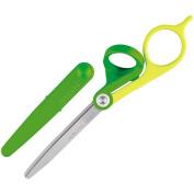 Kokuyo scissors slender green Hasa -310G