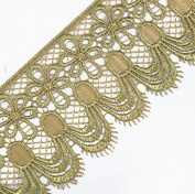 5yards High Quantily Gold Metallic Embroidery Motif Lace Cord Applique Trim Lace Venice Embellishment Sewing Accessories For Dress T1500