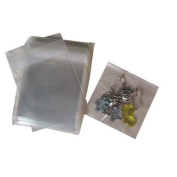 5.1cm . X 5.1cm . Flat Cellophane Bags with Adhesive Closure - pack of 200