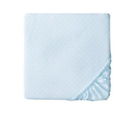 Circo Woven Dots Fitted Nursery Crib Sheet - Baby Blue
