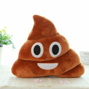 "Usstore Mini Cute Emoji Emoticon Cushion Poo Shape Soft Plush Pillow Doll Toy Throw Pillow Cover Cases 23*20cm(L*H)/9.1*7.9"""