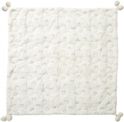 Pehr Designs Tiny Bunny Quilted Pom Blanket, Mist