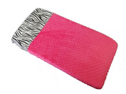 Sisi Baby Design Nappy Changing Table Pad Cover - Hot Pink Zebra
