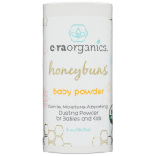 Talc Free Baby Powder 90ml USDA Certified Organic Dusting Powder by Honeybuns Non-GMO, Cruelty Free, Natural and Organic Baby Products.
