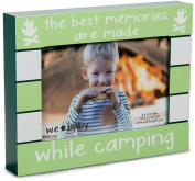 Pavilion Gift Company We Baby The Best Memories are Made While Camping Picture Frame, Green, 15cm x 10cm