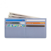 Women's Soft Leather Credit Card Slim Wallet Zipper Pocket Purse for Clutch Bag