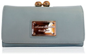 ANNA SMITH brand new genuine martinee with ANNA SMITH logo gold plate wallet, purse, clutch with gift box