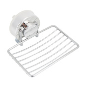 Soap Dish Holder Basket Tray Organiser Strong Suction Cups for Bathroom Shower