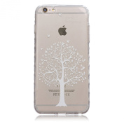 iPhone 6S Plus Case,iPhone 6 Plus Case with Fashion Art Pattern, UZZO Crystal Clear Ultra Thin TPU Case Transparent Skin Bumper Silicone Back Case Cover for iPhone 6/6S Plus