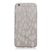 iPhone 6S Case,iPhone 6 Case with Fashion Art Pattern, UZZO [Crystal Clear] Ultra Thin TPU Case Transparent Skin Bumper Silicone Back Case Cover for iPhone 6/6S 12cm