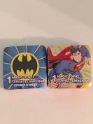 1 Batman vs 1 Superman Pop Up Magic Towel Washcloth Set - Varied Designs