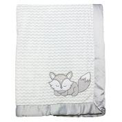 Wendy BellissimoTM Mix & Match Fox Applique Plush Blanket in Grey