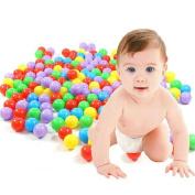 Voberry® 50 Pcs Colourful Fun Balls Soft Plastic Ball Pit Balls Baby Kids Tent Swim Toys Ball