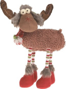 TII - Plush Very Merry Stripe Leg Moose Figurine