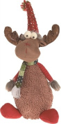 TII - Plush Very Merry Sitting Moose Figurine