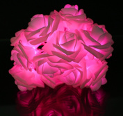 KPBOTL 2M 20 Rose Battery LED String Light Decoration Lights Colourful Holiday Outdoor Decoration Led Light Christmas Wedding Party Pink