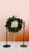 Adjustable Fluer Des Lis Metal Wreath Holders - Brown