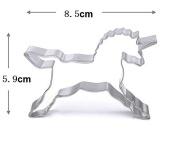 WJSYSHOP Unicorn Horse Shape Cookie Cutter for Celebrations Christmas Birthday Party Wedding Holiday