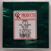 CK Products 89-144K Foil Wrappers, 10cm x 10cm , Green