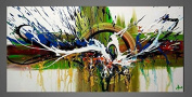 Seekland Art Abstract Oil Paintings on Canvas Modern Decorative Wall Art for Home Decoration No Frame 120cm W x 60cm H