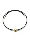 UNIQUE UNISEX GOLDEN SOUTH SEA AND AKOYA CULTURED PEARL WRAP-AROUND NECKLACE