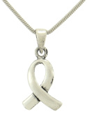 Awareness Ribbon 925 Sterling Silver Charm Handmade Pendant Chain Necklace Gift Jewellery