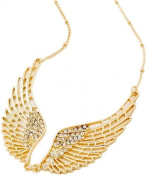 Delicately Detailed Angel Wing Necklace Silver or Gold Plated Boxed