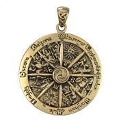 Bronze Wheel of the Year Pendant Wicca Wiccan Sabbats Jewellery