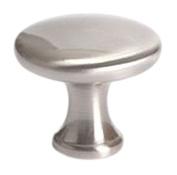 Berenson Advantage Plus 7 Collection Mushroom Cabinet Knob, 29mm Diameter, Brushed Nickel