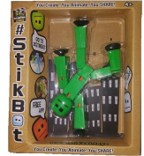 Stikbot Solid Colour Green Action Figure Opaque Animation Toy Social Media Skitbot Stick Bot