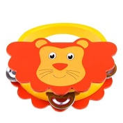 Icollect® Kids Musical Instruments Toy Tambourine Cute Animal Hand Drum-1 pcs