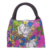 ZXKE Morning Glory Women Handbags Carrier Lunch Bag Tote