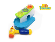 Baby & Toddlers Tap & Roll Play Set with Toy Hammer and Ramp Station with Whack-a-Mouse Balls