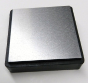 STEEL & RUBBER BLOCK 10cm DOUBLE SIDED COMBINATION METAL WORKING ANVIL BENCH TOOLS