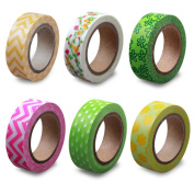 LolliZ Washi Tape - Spring Garden Set with Six Rolls of Fun and Festive Colours
