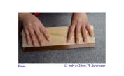 1 pc 13 inch (33cm) Silk Stencil Screen Printing Squeegee Wood Screen Ink Scraper