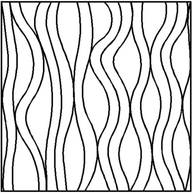 Quilting Creations Flowing Lines Block Continuous Line Quilting Stencil, 25cm