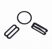 20set 19mm Metal Black Lingerie Hardware Hooks Eye for Bra Strap Sewing Clips Sewing Supplies for Bra Accessories WB105