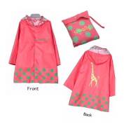 Vkenis Waterproof Cartoon Children's Raincoat for Kids Aged 4-12