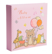 Baby Girl Photo Album - Holds 200 10cm x 15cm Photos - by Bay Area Housewares