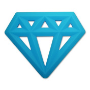 Little Standout Silicone Diamond Teething Toy - Blue