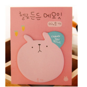 KAKA(TM) Cute Creative Colourful Thinking Sticky Notes Post-it Paper Marker Memo Sticker Bookmark- pink 20 pages